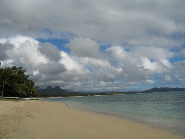 Waimanolo long locals beach Oahu Hawaii