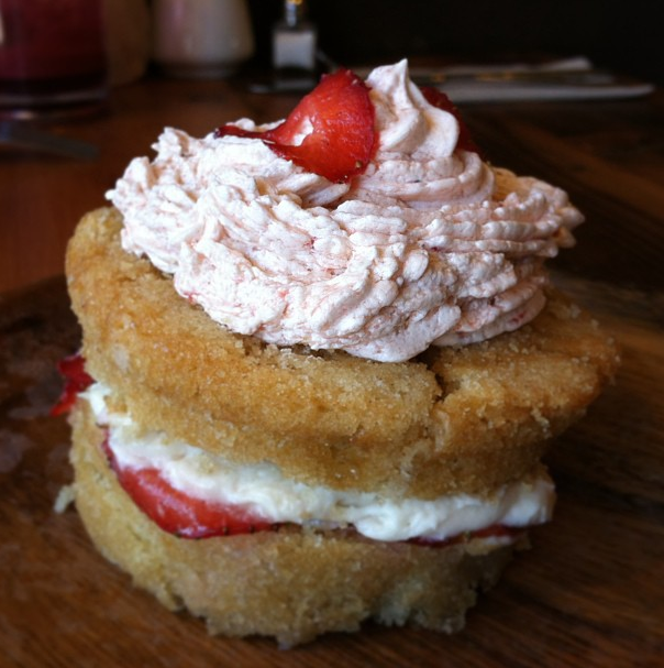 Vegan strawberry shortcake Golden Mean Los Angeles