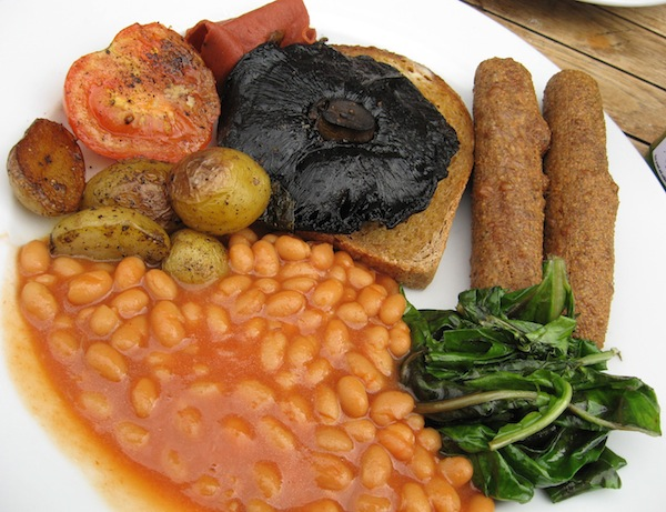 Infinity Cafe Brighton Vegan breakfast