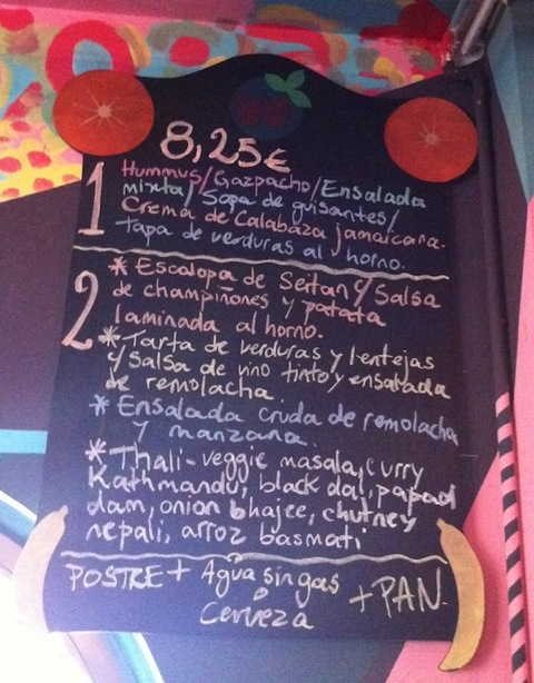 spainish menu