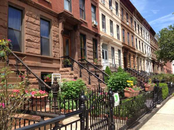 Our street in Bed-Stuy