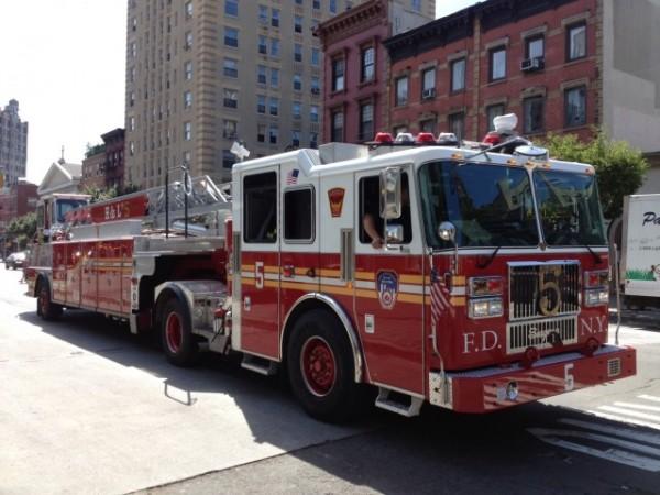 Kids love NYC firetrucks!