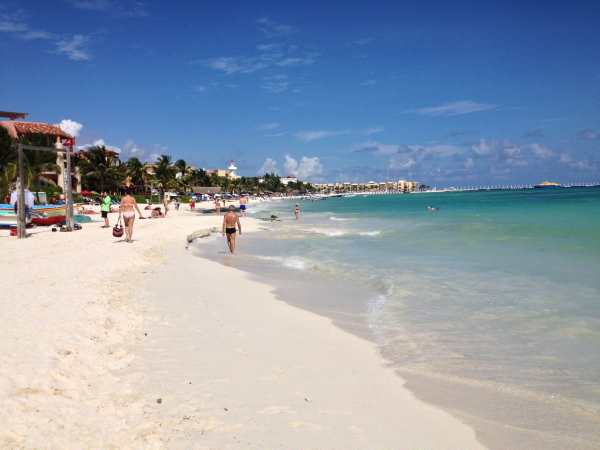Playa del Carmen, southern end.