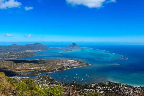 Mauritius aerial
