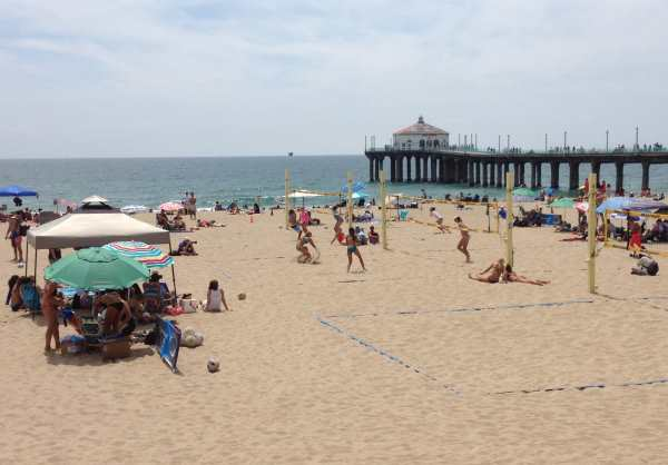 Volleyball at Hermosa Beach, LA